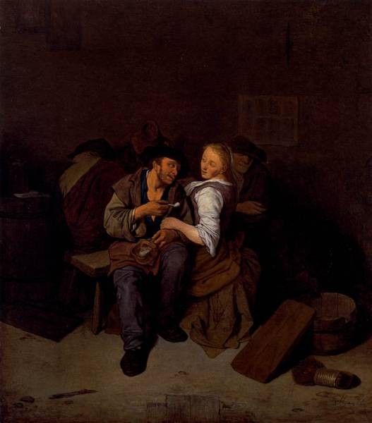 Pietersz An Amorous Couple In A Tavern